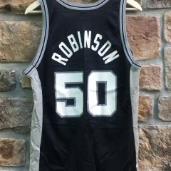 david robinson san antonio spurs jersey black
