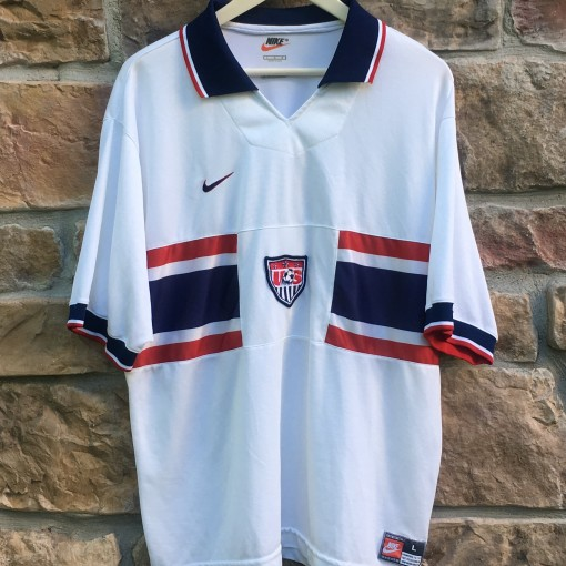 1996 Team USA soccer Nike Olympic jersey size large