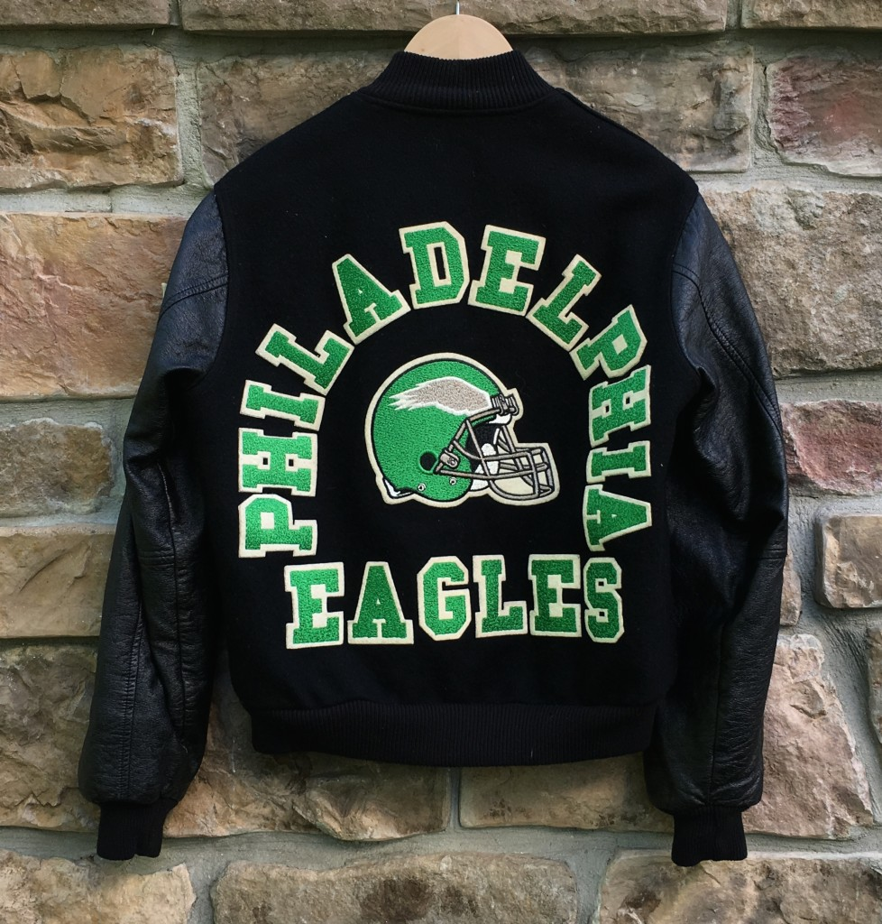 official photos 7a249 c4235 80's Philadelphia Eagles Varsity Letterman Chalkline NFL Jacket Size Small