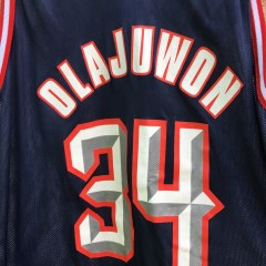 reversible hakeem olajuwon houston rockets 90s champion nba jersey size 48