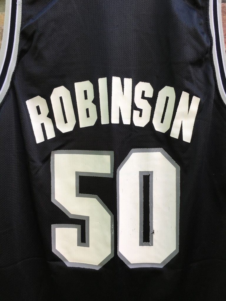 90 s David Robinson San Antonio Spurs Champion NBA jersey size 44 large 5bbb22039