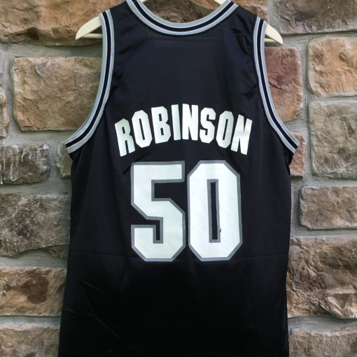 90's David Robinson San Antonio Spurs Champion NBA jersey size 44 large