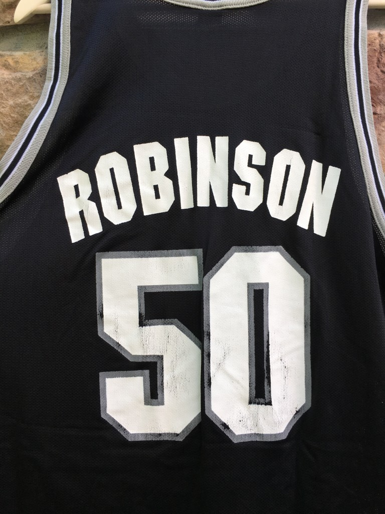 5eab61c0db9a1 90 s David Robinson San Antonio Spurs Champion NBA jersey size 48 extra  large xl