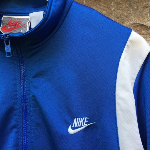 vintage 80's Nike grey red tag track jacket