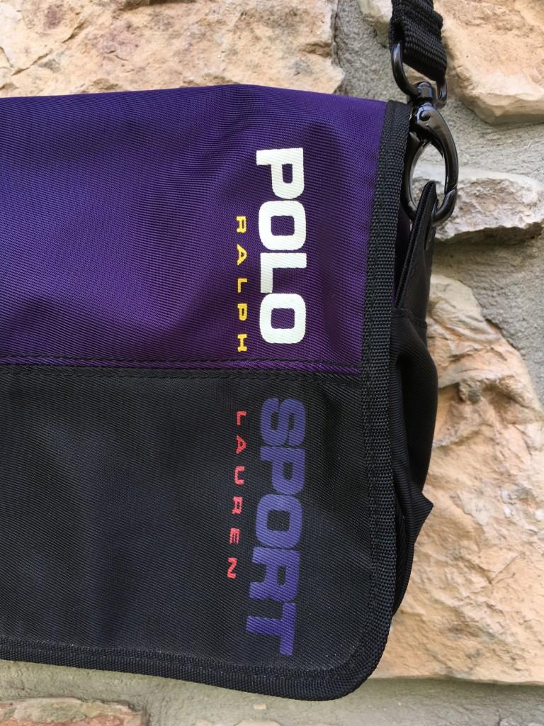 521c289d2548 90 s Polo Ralph Lauren Polo Sport Small Shoulder Bag Black Purple ...