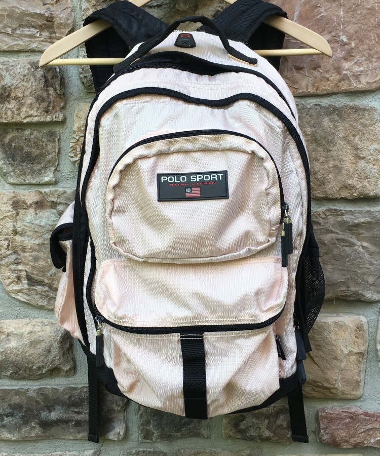 a420284d29 vintage 90 s Polo Ralph Lauren Polo sport light pink backpack book bag
