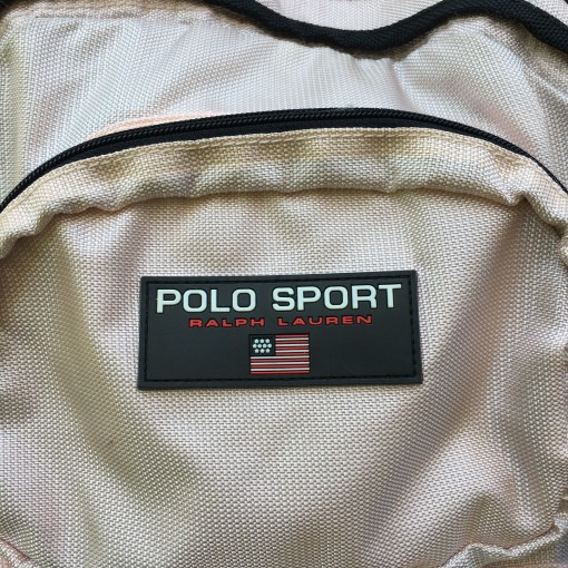 vintage polo sport book bag