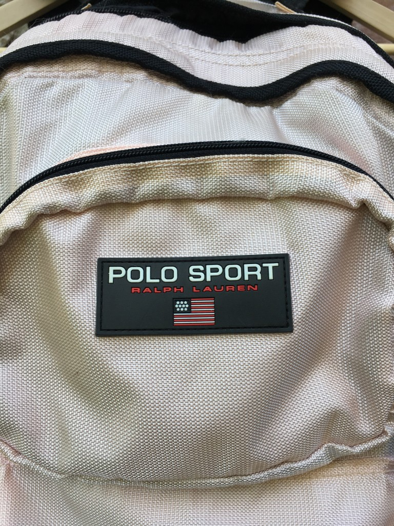 5b8c7626c4 90 s Polo Ralph Lauren Polo Sport Flag Patch Backpack Pastel Pink ...