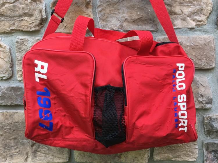 vintage 1997 Polo Ralph Lauren Polo Sport duffle bag red f904189db4921