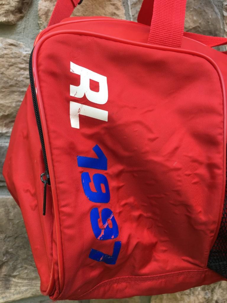 1997 Polo Ralph Lauren Polo Sport Red Duffle Bag  a1127dcbbccbc