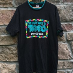 vintage 80's Taco Bell The only way to taco shirt size XL