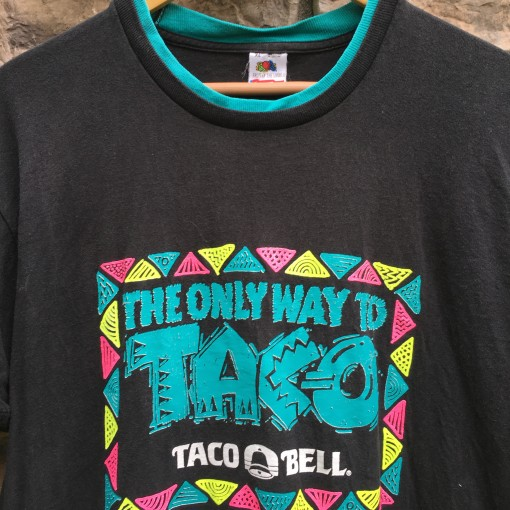 vintage 80's Taco Bell the only way to taco t shirt size XL