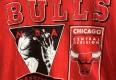 vintage 90's Chicago Bulls t shirt red