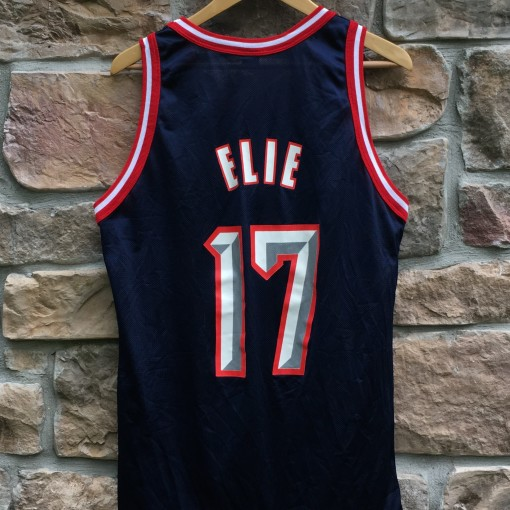 vintage Mario Elie Houston Rockets Champion NBA jersey