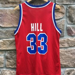 vintage Grant Hill Detroit Pistons red alternate champion nba jersey
