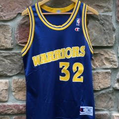 vintage 1995 Joe Smith Golden State warriors champion nba jersey size 40 medium