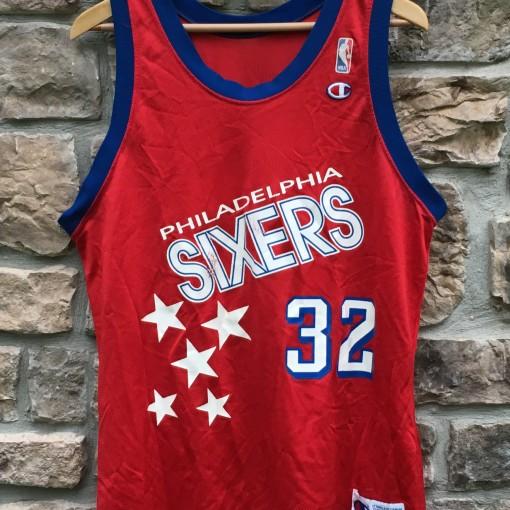1991-92 Philadelphia Sixers Charles Barkley champion nba jersey size 44 large