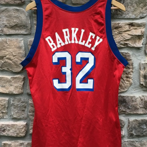 vintage charles barkley number 32 magic johnson champion nba jersey size 44
