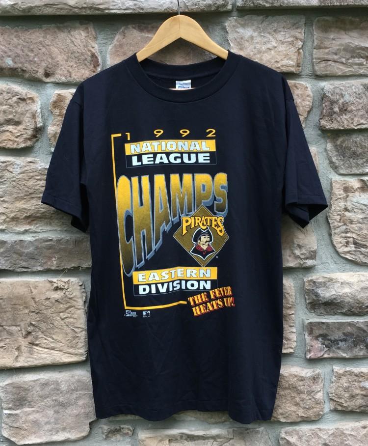 1992 Pittsburgh pirates division champinos. vintage 1992 Pittsburgh pirates  salem mlb t shirt ... f15193a11