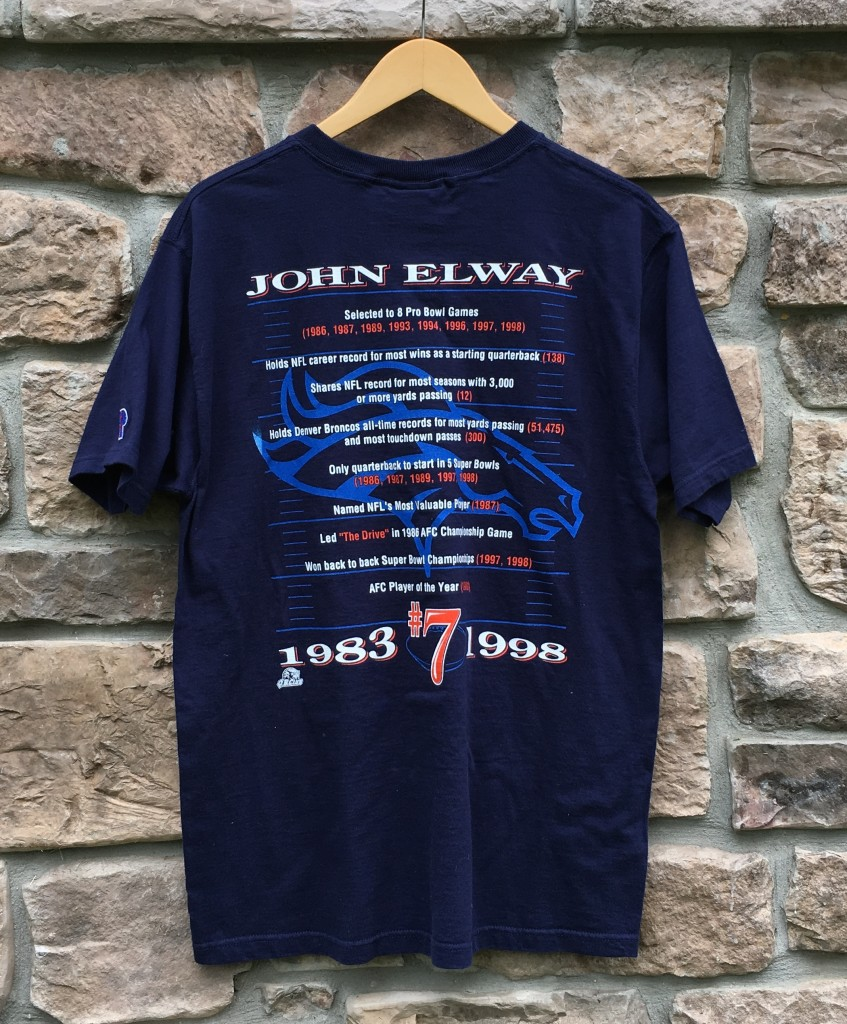 Vintage 1998 John Elway Pro Player denver broncos NFL shirt size medium e7f123384