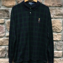 vintage 90's Polo Ralph Lauren Plaid Bear shirt size large