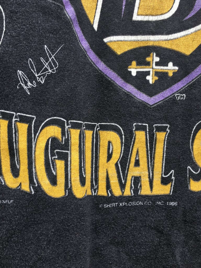 1996 Baltimore Ravens Inaugural Season NFL T Shirt Size Large   Rare