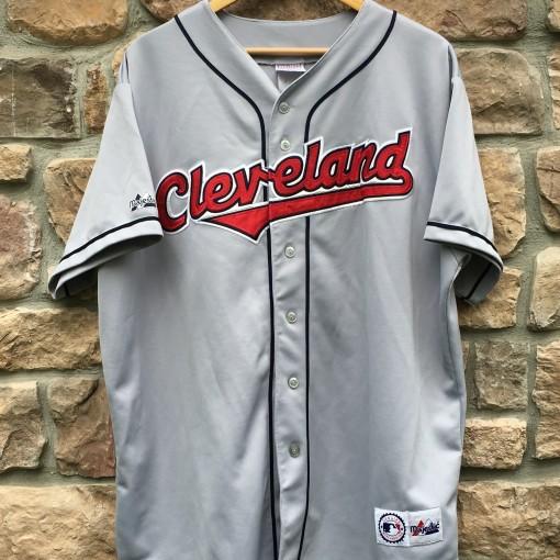 vintage 90's cleveland indians Majestic MLB jersey size XXL