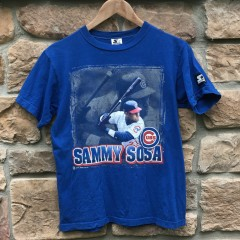 vintage 1998 Sammy Sosa Starter Chicago Cubs Jersey Youth Large