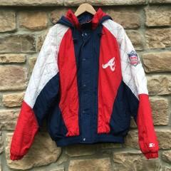 vintage 90's Atlanta Braves Starter MLB jacket size large