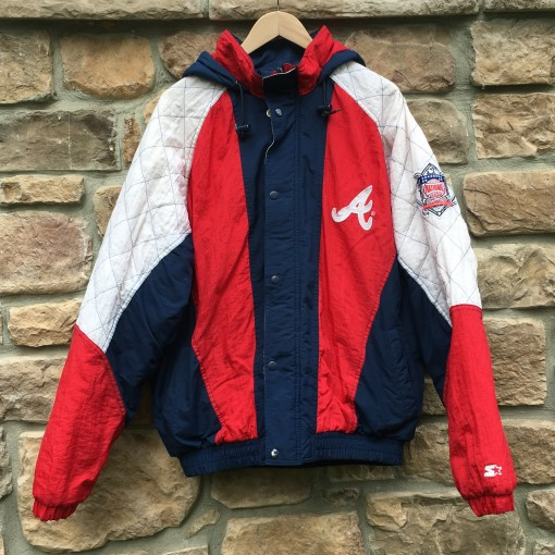 vintage 90's Atlanta Braves Starter MLB jacket size large