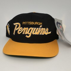 vintage 90's Pittsburgh Penguins Sports Specialties NHL Snapback hat deadstock