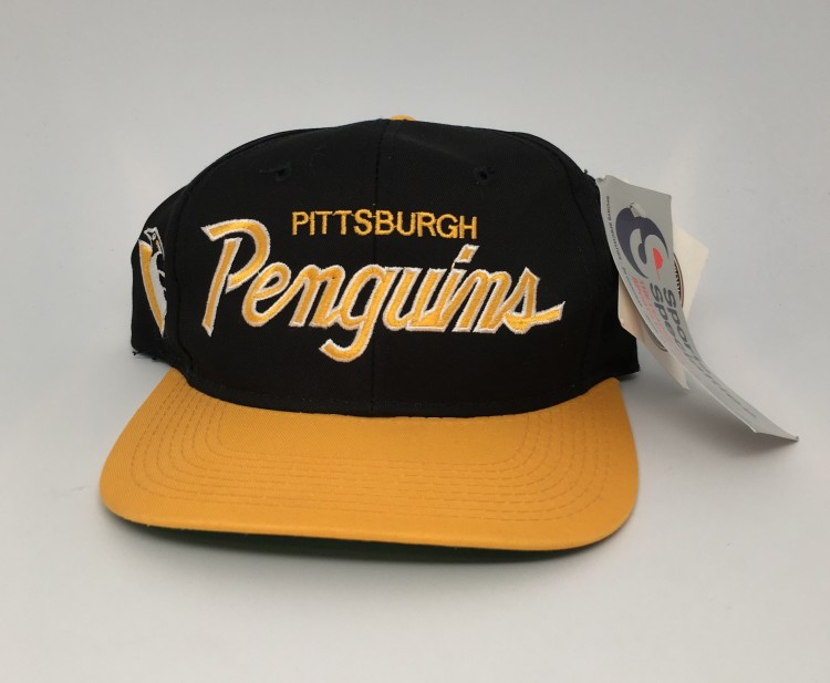 65d3ebee35e2c5 vintage 90's Pittsburgh Penguins Sports Specialties NHL Snapback hat  deadstock