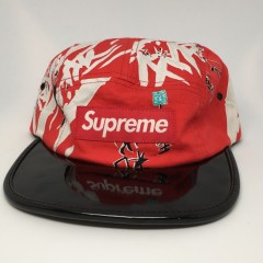 spring summer 2013 Supreme Bamboo Camp cap 5 panel red black