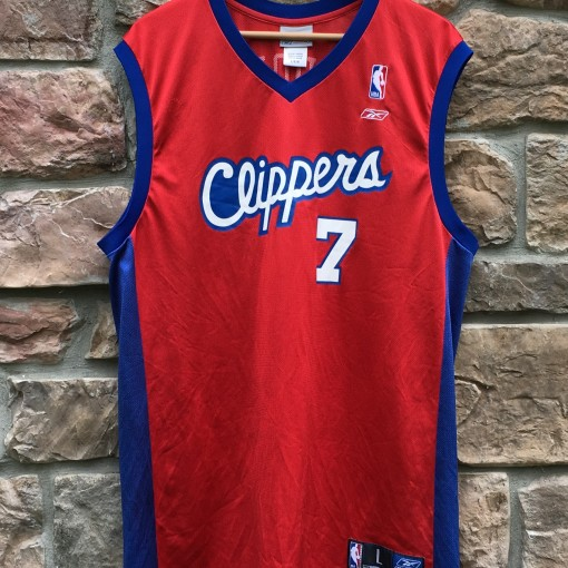 vintage lamar odom los angeles clippers reebok nba jersey size large