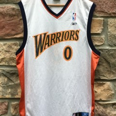 2002 Golden State Warriors Gilbert arenas reebok jersey size large