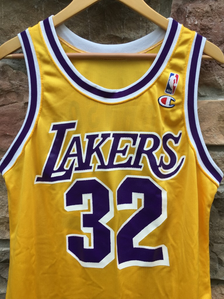 8a5909a8f23 90 s Magic Johnson Los Angeles Lakers Champion NBA jersey size 44 Large  deadstock