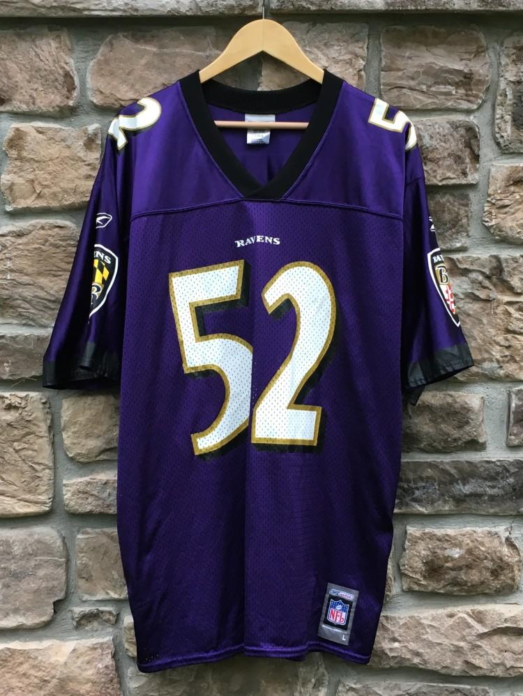 2001 Ray Lewis Baltimore Ravens Reebok NFL Jersey Size Large | Rare Vntg