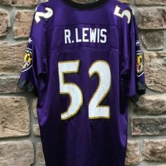 2001 Ray Lewis Baltimore ravens reebok nfl jersey size large