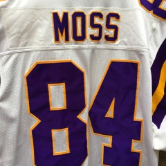 2001 Randy Moss Minnesota Vikings Authentic Reebok helmet tag jersey size 52