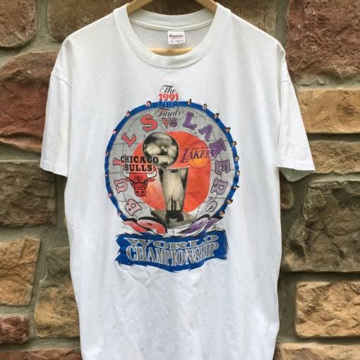 1991 NBA Finals Lakers Bulls Starter NBA t shirt OG