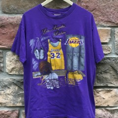 90's Los Angeles Lakers Magic Johnson Nutmeg NBA t shirt