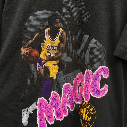 1991 Magic Johnson Los Angeles Lakers NBA MVP T shirt