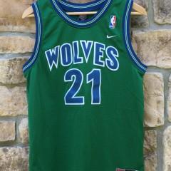 1995 Minnesota Timberwolves Kevin Garnett Nike Rewind NBA swingman jersey youth large green
