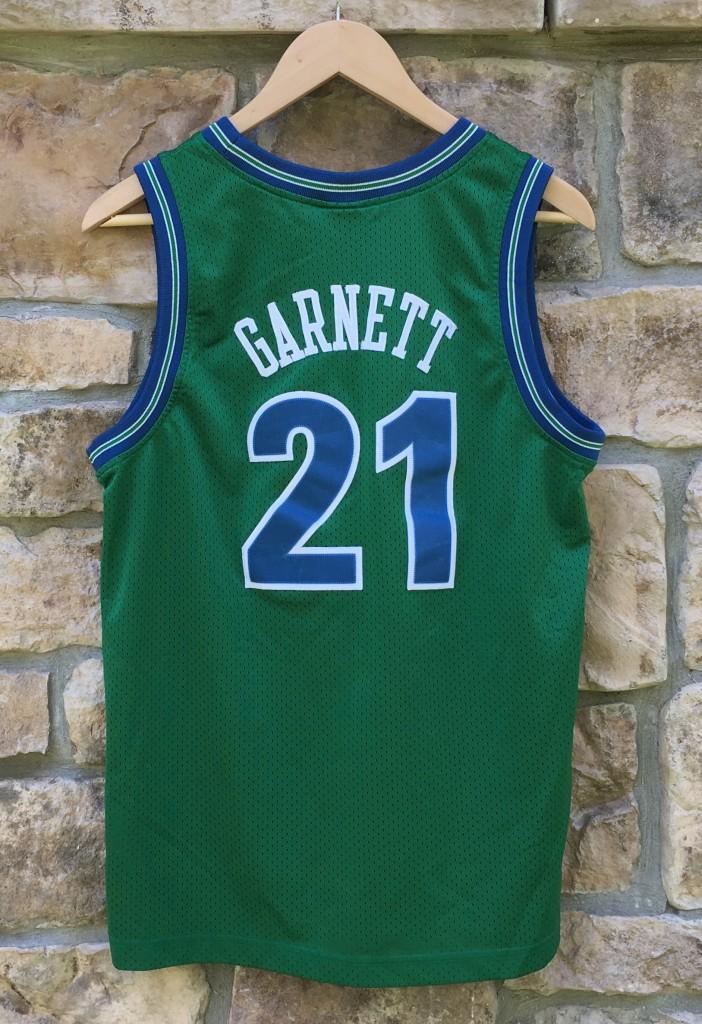 1995 Minnesota Timberwolves Kevin Garnett Nike Rewind NBA swingman jersey  youth large green 342717351