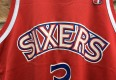 1997 Allen Iverson Philadelphia Sixers red rookie jersey size 40 medium champion