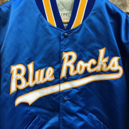 vintage 90's Wilmington Blue Rocks Minor League Baseball satin jacket size large Delong