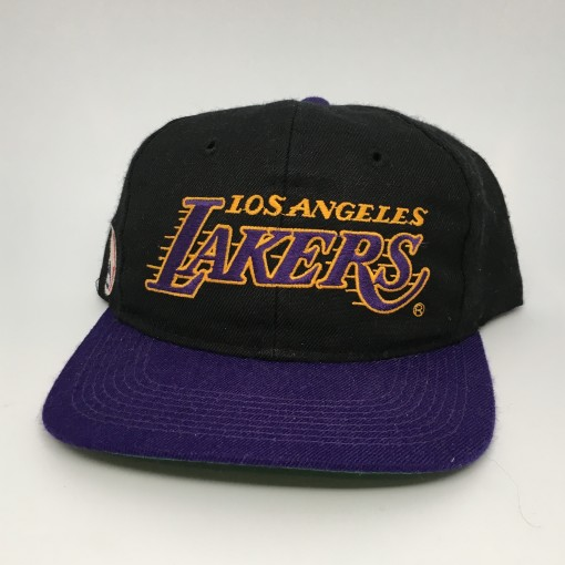 90's Sports Specialties Los Angeles Lakers script snapback hat
