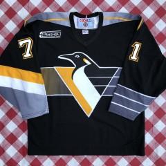 vintage 2000 Pittsburgh Penguins Jiri Slegr Robo Penguin CCM jersey size large