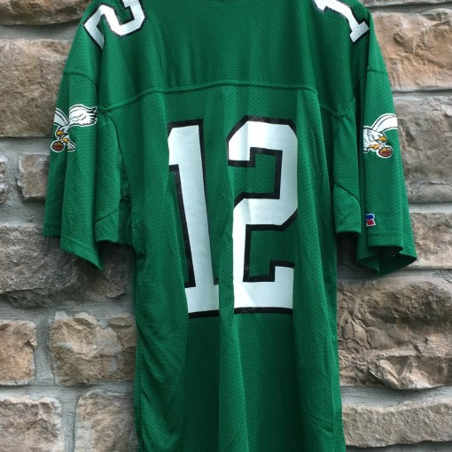 1991 Randall Cunningham Philadelphia Eagles Russell Authentic NFL jersey size 44 large kelly green