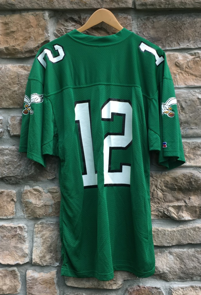 87e56c22c 1991 Randall Cunningham Philadelphia Eagles Russell Authentic NFL jersey  size 44 large kelly green